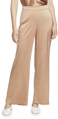 Lafayette 148 New York Riverside Reverie Satin Cloth Ankle Pants