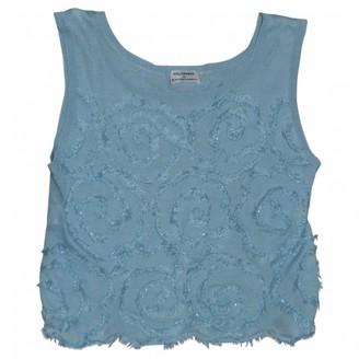 Philosophy di Alberta Ferretti Turquoise Cotton Top for Women
