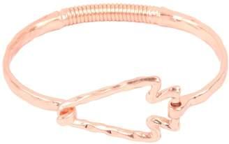 Riah Fashion Hammered-Cast-Arrow-Head Hinge-Cuff-Bracelet