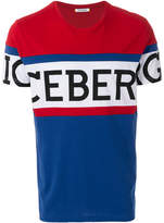 Iceberg logo colour-block T-shirt