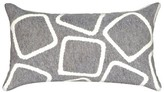 Liora Manné Silver Squares Throw Indoor/Outdoor Pillow
