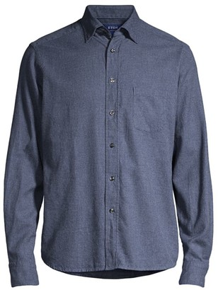 Eton Soft Casual Contemporary-Fit Flannel Shirt