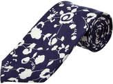 Cole Haan Navy Floral Silk-Blend Tie