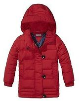Tommy Hilfiger Big Girl's Th Kids Hooded Mini Jacket