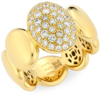 Brera Via 18K Gold & Diamond Oval Bubble Ring