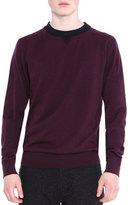 Lanvin Crewneck Knit Sweater, Wine