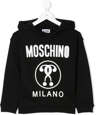 MOSCHINO BAMBINO Logo-Print Hooded Sweatshirt