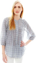 Joe Fresh 3/4-Sleeve Print Blouse