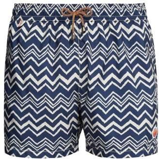 Missoni Mare - Zigzag Print Swim Shorts - Mens - Navy White