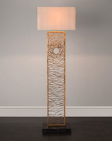 John-Richard Collection Gold Vortex Floor Lamp