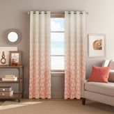 Bed Bath & Beyond Seascape Grommet Top Window Curtain Panel in Coral