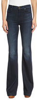 J Brand Jeans Maria High-Rise Flare-Leg Jeans, Dark Innovation