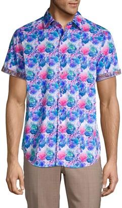 Robert Graham Bashan Watercolor Print Sport Shirt