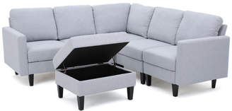 Astounding Sectional Couch With Storage Shopstyle Theyellowbook Wood Chair Design Ideas Theyellowbookinfo