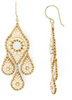 Miguel Ases Swarovski Crystal Chandelier Drop Earrings