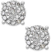 Macy's Diamond Cluster Stud Earrings in Sterling Silver (1/4 ct. t.w.)