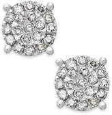 Macy's Diamond Cluster Stud Earrings in Sterling Silver (1/4 ct. t.w.)