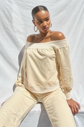 boohoo Supersoft Off The Shoulder Sweat