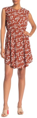 Collective Concepts Floral Printed Cap Sleeve Dress
