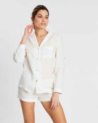 Homebodii Linen Long Sleeve PJ Set