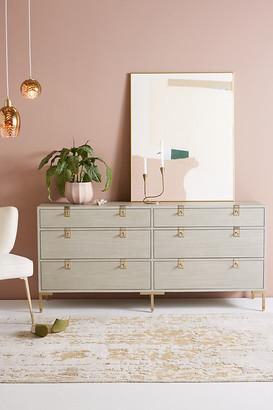 Anthropologie Ingram Six-Drawer Dresser By in Grey