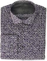 Calvin Klein Men's Thermal Stretch Xtreme Slim Fit Graphic Print Dress Shirt