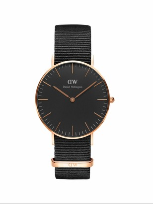 Daniel Wellington Classic Cornwall Rose Gold Watch 36mm Nato for Men and Women