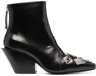 Toga Pulla Chain-Embellished Ankle Boots