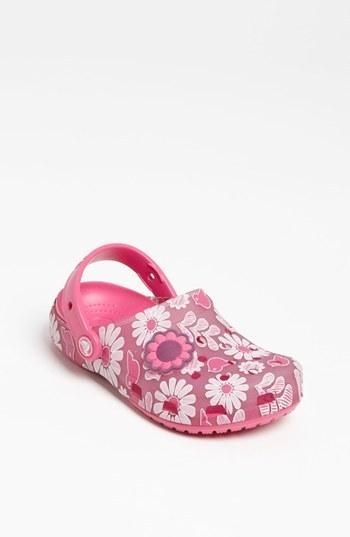 Crocs 'Chameleon Floral' Slip-On (Walker, Toddler & Little Kid) Carnation/ Neon Magenta 3 M