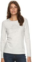 Croft & Barrow Women's Crewneck Holiday Tee