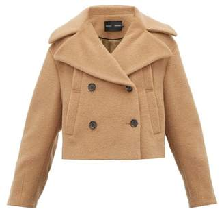 Proenza Schouler Double-breasted Felted Cropped Pea Coat - Womens - Camel