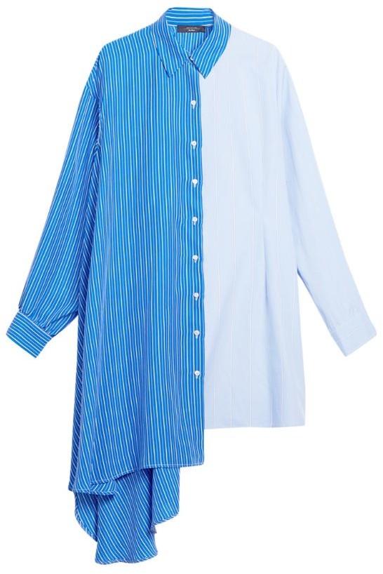 Max Mara Silk Asymmetic Oreste Shirt Dress