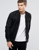 Jack and Jones Suede Bomber Jacket