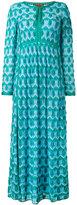 Missoni drawstring shift maxi dress - women - Silk/Polyester/Spandex/Elastane/Viscose - 42