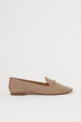 H&M Buckled Loafers - Beige