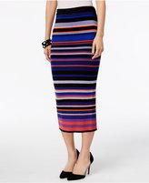 ECI Striped Sweater Midi Skirt