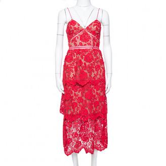 Self-Portrait Red Lace Dresses