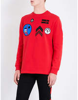 Givenchy Badge-embroidered Cotton-jersey Sweatshirt