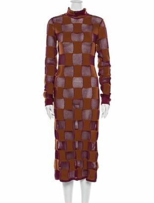 Marni Turtleneck Long Dress w/ Tags Brown