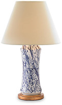 Bunny Williams Home Spatter Lamp - Deep Blue/White