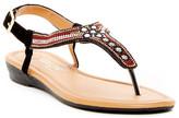 Elegant Footwear Sacciy Beaded Thong Sandal
