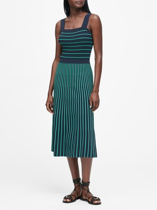 Banana Republic Square-Neck Knit Midi Dress
