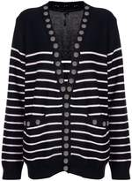 Thomas Wylde button detailed striped cardigan