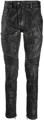 Diesel Treated Leather Trousers