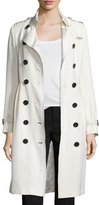 Burberry Double-Breasted Trench Coat W/Tuck Pleats, Parchment