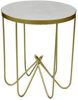 Premier Housewares Templar Marble Accent Table - White