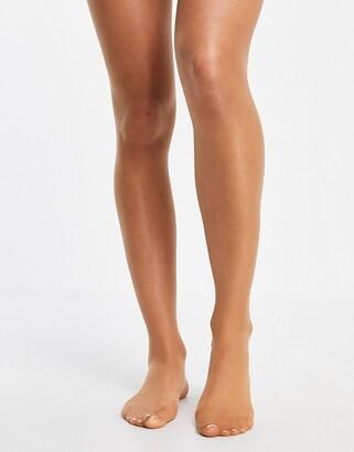 Pretty Polly Naturals Skin Tone 8 denier tights in mid