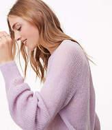 LOFT Ribbed Blouson Sweater