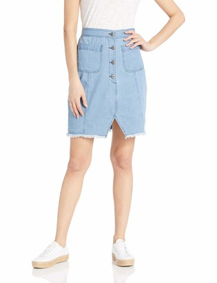 Cupcakes And Cashmere Women's Yvette Chambray Pencil Skirt
