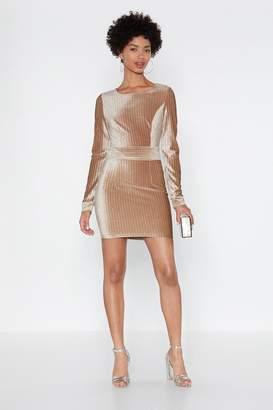Nasty Gal Womens Dance Tonight Gitter Dress - Beige - L, Beige